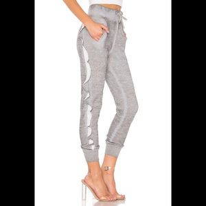 Wildfox Norelle heather grey jogger sweatpants